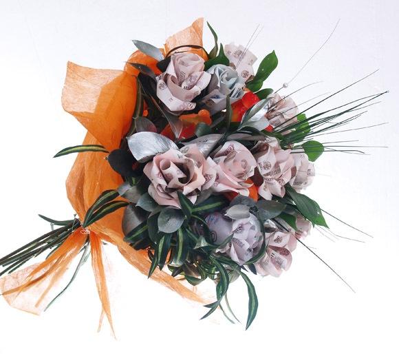 Денежный букет на свадьбу поздравление